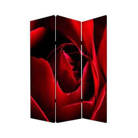 "48"" X 72"" Multi-Color Wood Canvas Rose Screen"