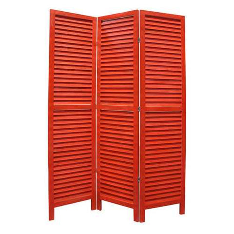 "48"" X 67"" Red Wood Shutter Screen"