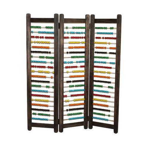 "43"" X 35"" Multi-Color Wood Screen"