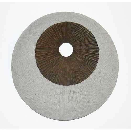 "14"" X 2.2"" Brown & Gray Round Double Layer Ribbed Wall Decor"