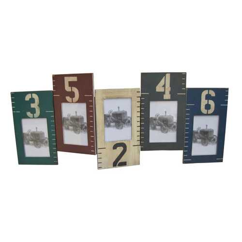 "33"" X 20"" Multi-Color Wooden Photo Frame"