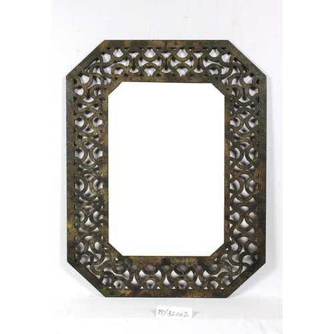 "40"" X 31"" Brown Distressed Wooden Frame"