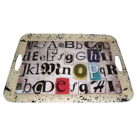 "20"" X 15"" Multi-Color Metal Inspiration Tray"