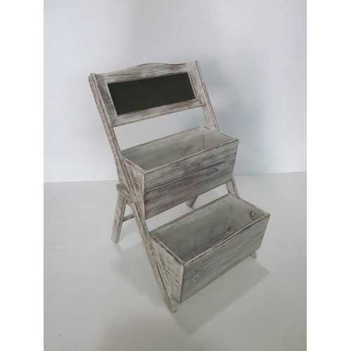 "10"" X 9"" Gray 2 Piece Wood Shelf"
