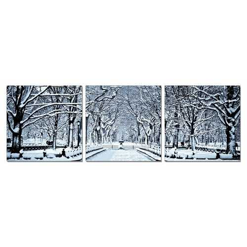 Winter Trees 3-Panel Photo On Canvas