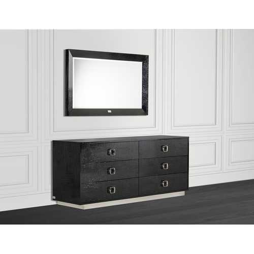Modern Black Crocodile Dresser