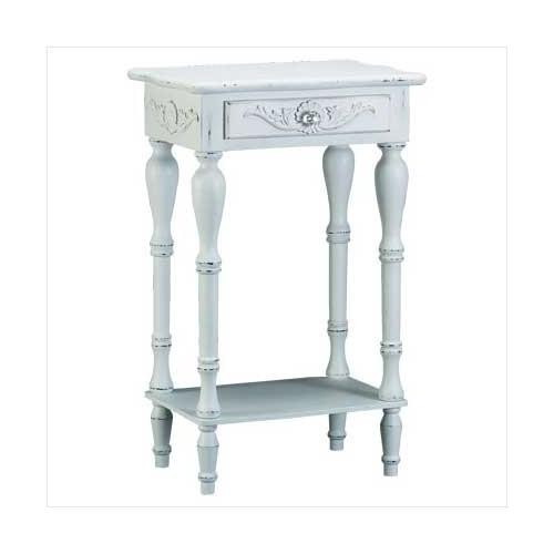 Carved White Side Table (pack of 1 EA)