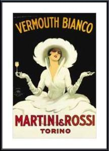 Martini and Rossi - Giclee, framed black metal, white matte