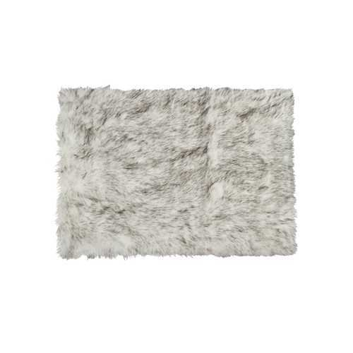Faux Fur 5' X 8' Rectangular Rug - Gradient Grey