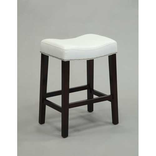 Counter Height Stool (Set-2), White & Espresso