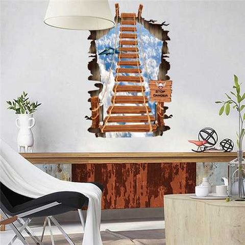 3D Removable Dream Ladder Wall Decal Wall Stickers Home Wall Background Decoration