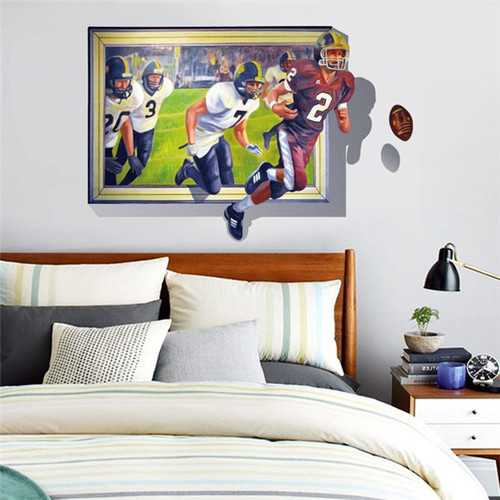 3D Wall Decal Removable Ball Match Wall Stickers Home Wall Background Decor