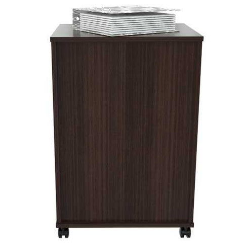 Mobile File Cabinet with Two Drawers - Melamine /Engineered wood