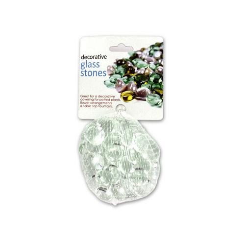 Clear Decorative Glass Stones ( Case of 48 )