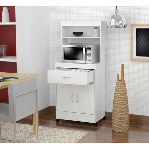 Microwave Storage Cabinet - Melamine /Engineered wood