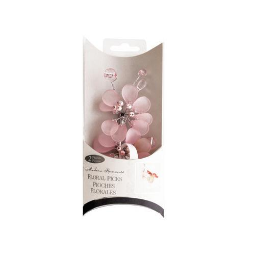 Frosted Pink Bouquet Floral Picks ( Case of 72 )
