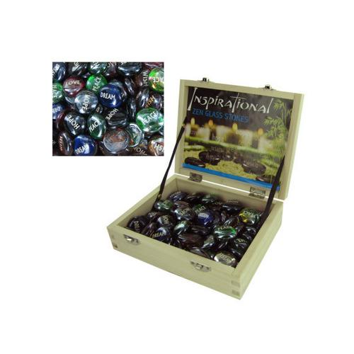 Inspirational Zen Glass Stones Countertop Display ( Case of 72 )