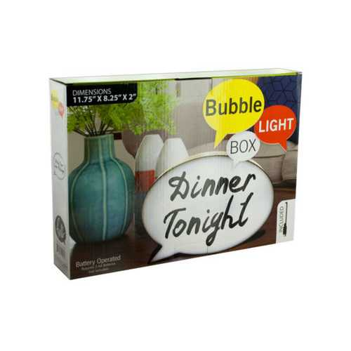 Bubble Light Box Message Board with Marker ( Case of 6 )