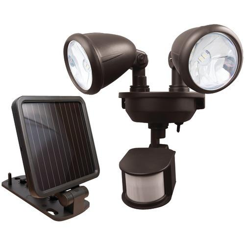 Maxsa Innovations Dual-head Solar Spotlight (dark Bronze) (pack of 1 Ea)