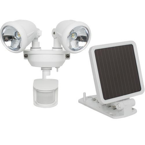 Maxsa Innovations Solar-powered Dual Head Led Security Spotlight (white) (pack of 1 Ea)