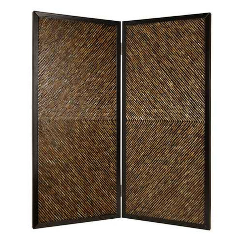 "84"" X 63"" Multi-Color Wood Screen"