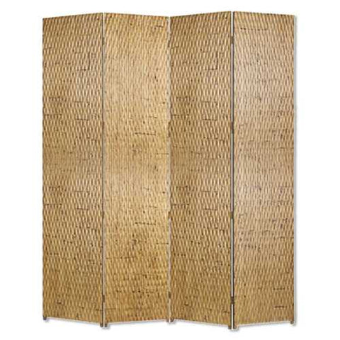 "84"" X 84"" Gold Wood Screen"