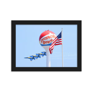 Blues, Beach Ball, America! (Framed Poster)