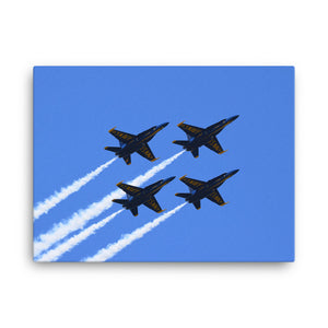 Blue Angels - Diamond Formation (Canvas Print)