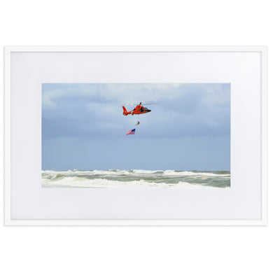 Coast Guard Fly By 2019 (Matte Paper Framed Poster w/ Mat)