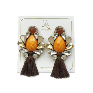 Mini Boho Chic Orange Earrings