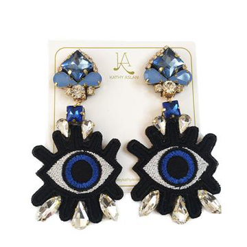 Pop Eye Baby Blue Earrings