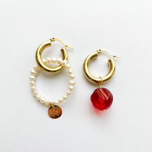 Caramelo Mixable Pearl Earrings