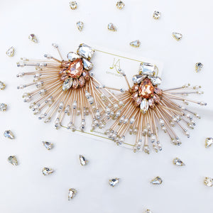 Storm Rose Gold Earrings