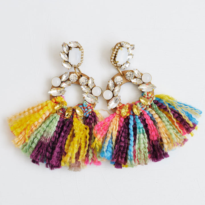 Candy White Earrings