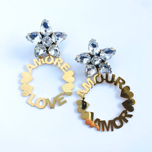 Golden Love Earrings