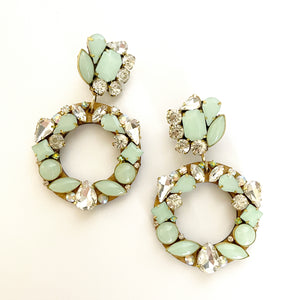 Aro Mint Green Earrings