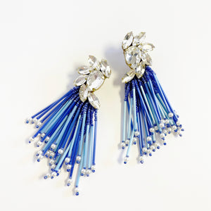 Deluxe Cascade Blue Earrings