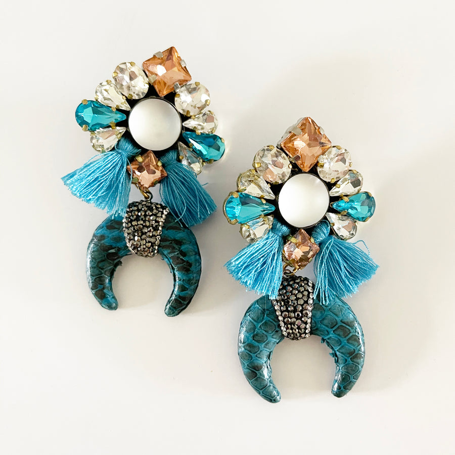 Khuarn Aqua Blue Earrings