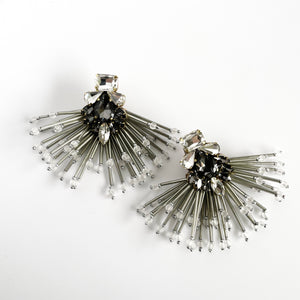 Storm Grey and Black Earrings