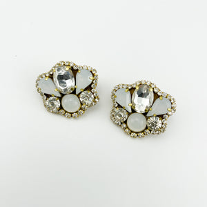 Mini BKA White Earrings