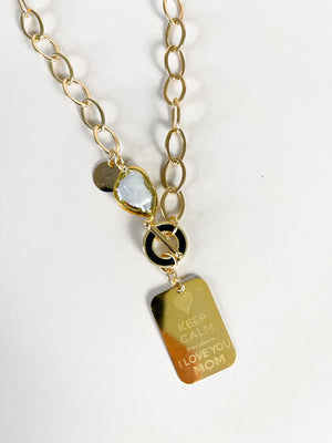 Mom Golden Necklace