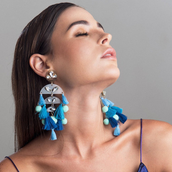 Cascade Blue Earrings