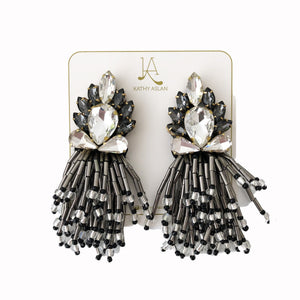 Rain Black and Grey Earrings