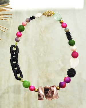 Unique Color Statement Necklace