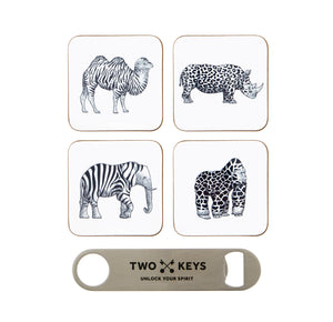 TWO KEYS COASTER SET