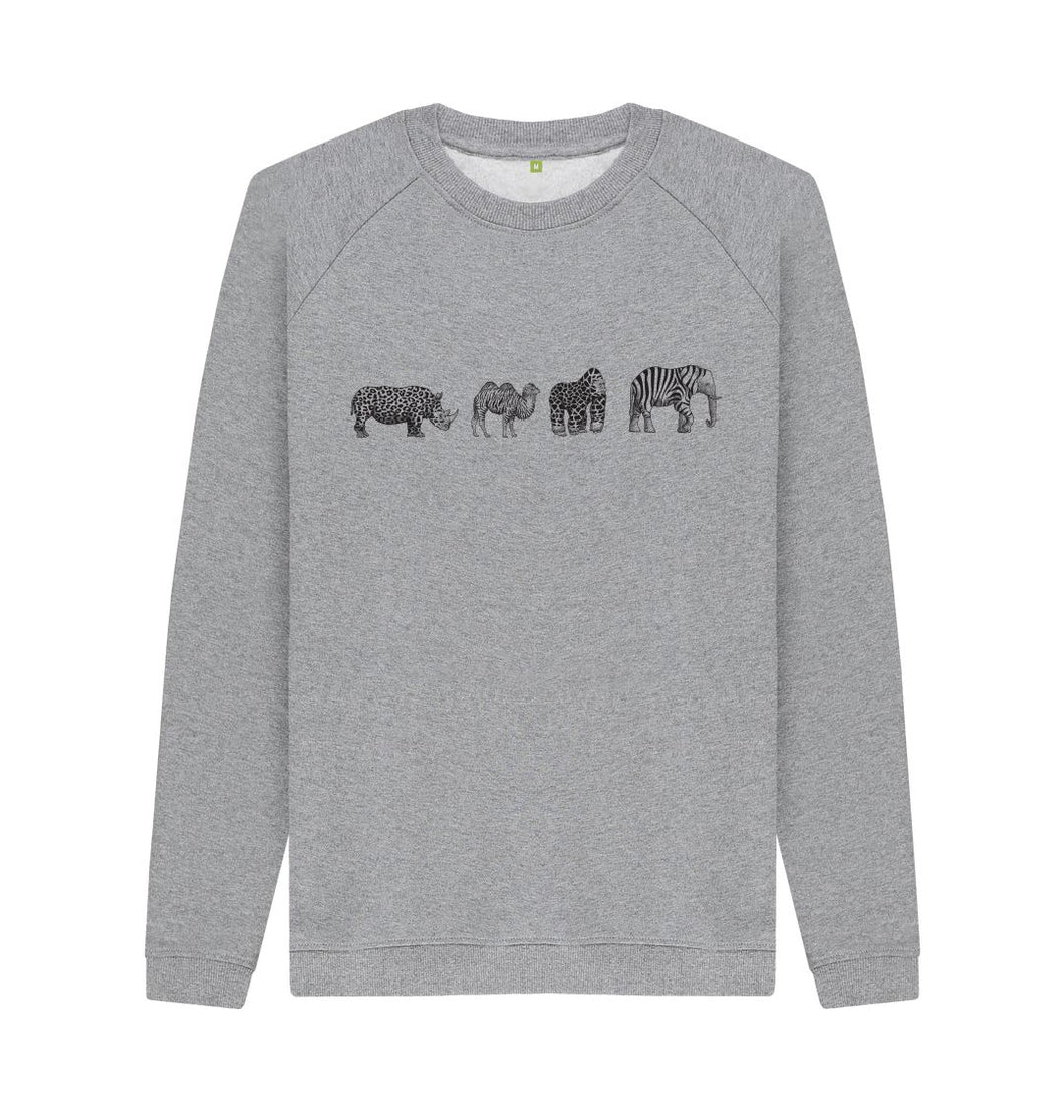 Light Heather Two Keys Animal Sweatshirt
