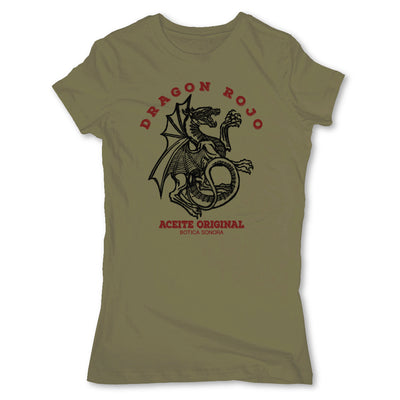 Botica-Sonora-Dragon-Rojo-Protection-Spell-Womens-T-Shirt-Green