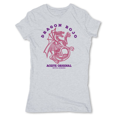 Botica-Sonora-Dragon-Rojo-Protection-Spell-Womens-T-Shirt-Grey