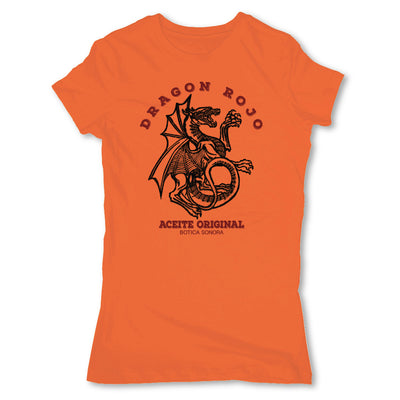 Botica-Sonora-Dragon-Rojo-Protection-Spell-Womens-T-Shirt-Orange