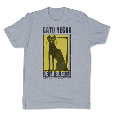Botica-Sonora-Gato-Negro-Good-Luck-Mens-T-Shirt-Grey